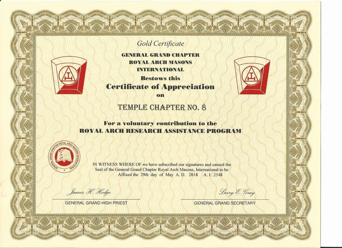 Masonic Certificate Of Appreciation Template Elegant Winslow York Rite Home
