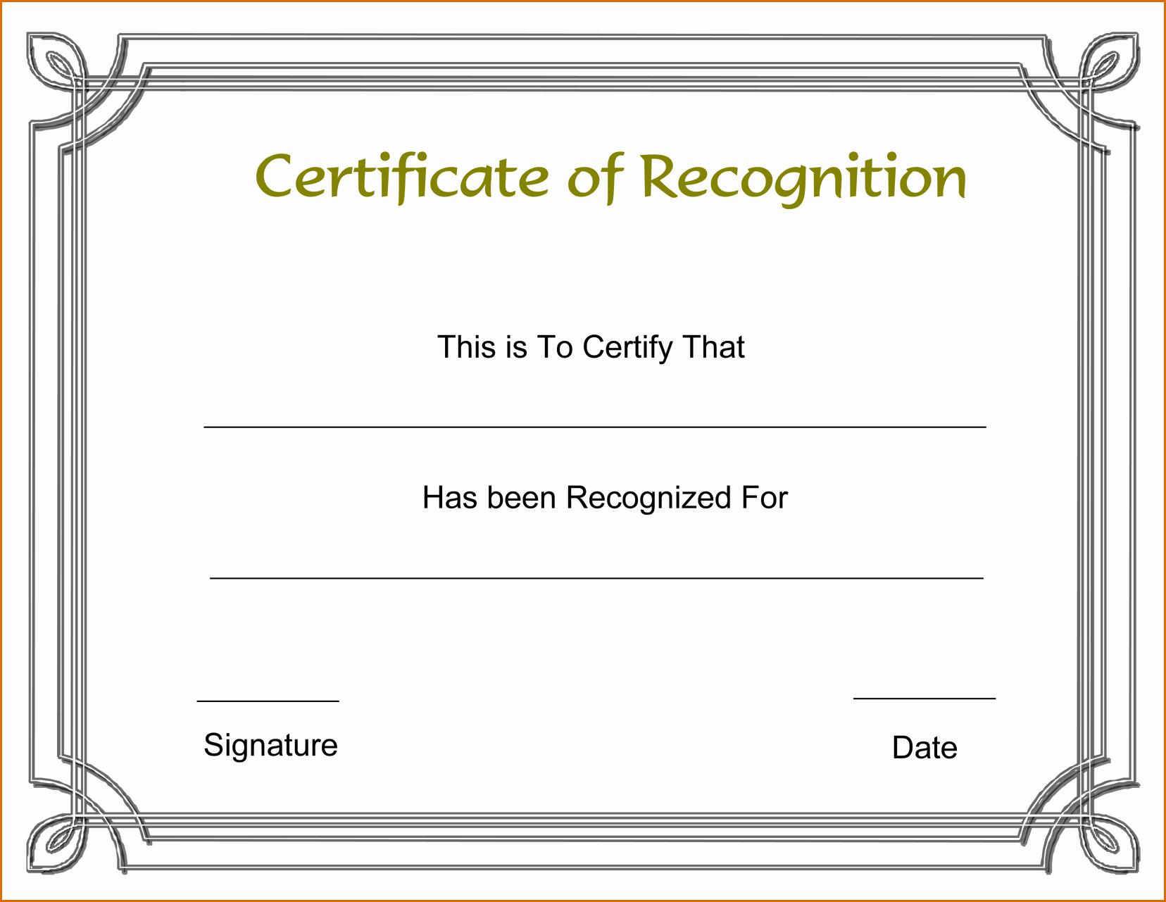 Masonic Certificate Of Appreciation Template Unique 13 Certificate Of Recognition Template