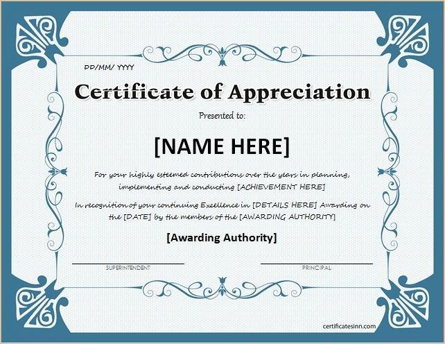 Masonic Certificate Of Appreciation Template Unique Certificates Of Appreciation Templates for Word
