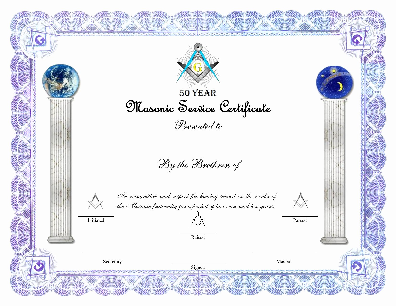 Masonic Certificate Of Appreciation Template Unique Masonic Certificate Template Free