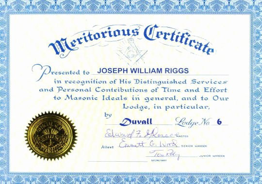 Masonic Certificate Template Free Elegant Recognition Certificates