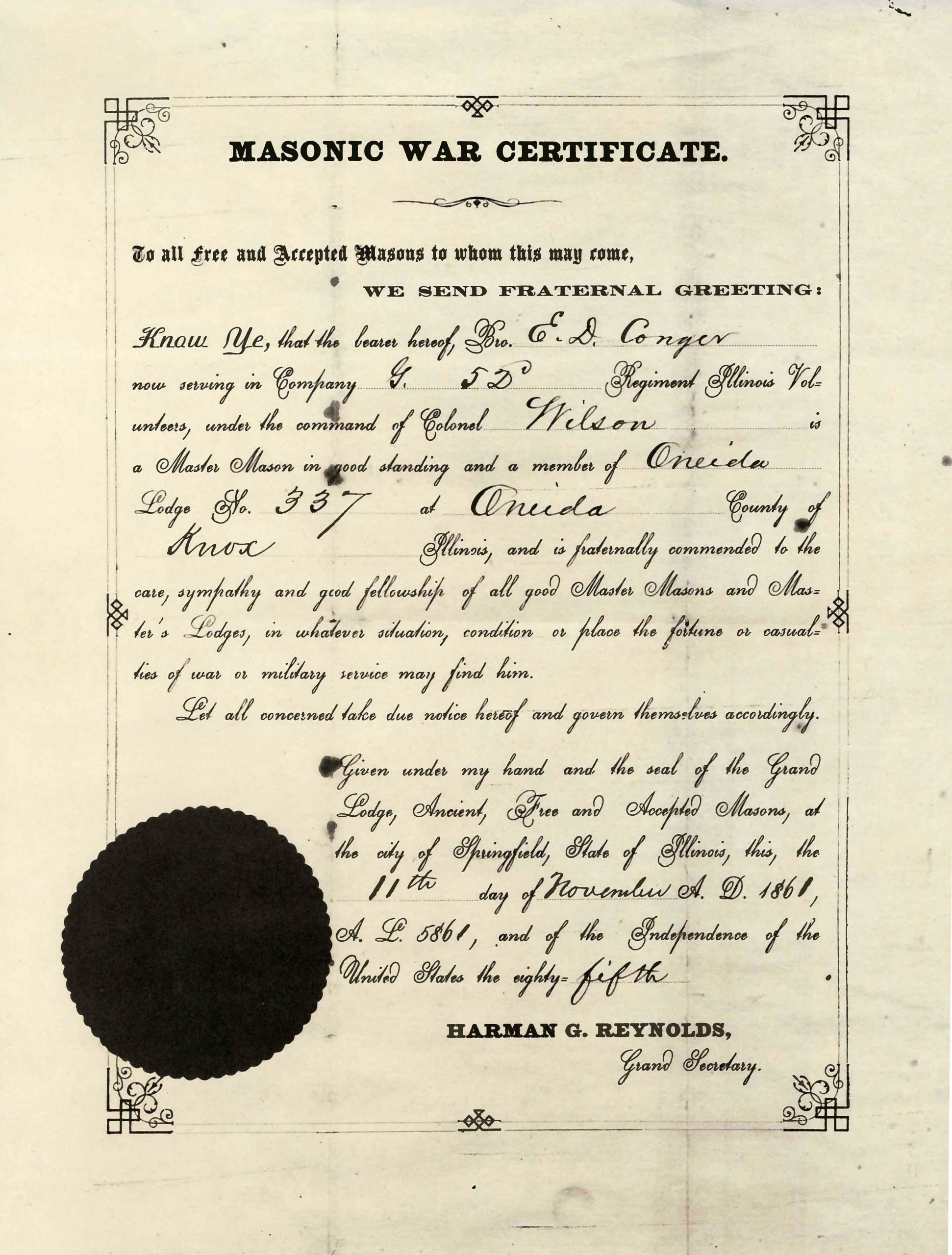 Masonic Certificate Template Free Inspirational Roger Conger Waco Masonic Lodge 92
