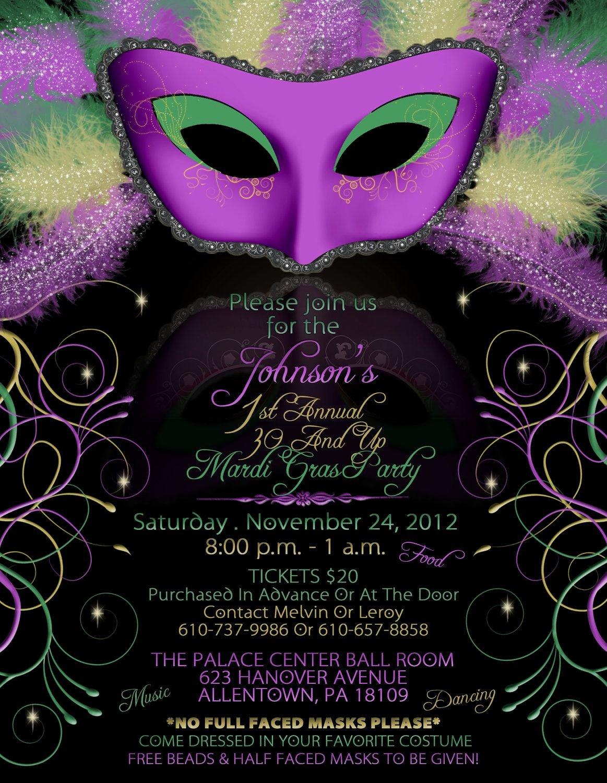 Masquerade Invitations Templates Free Beautiful Mardi Gras Birthday Party Invitations Mardi Gra