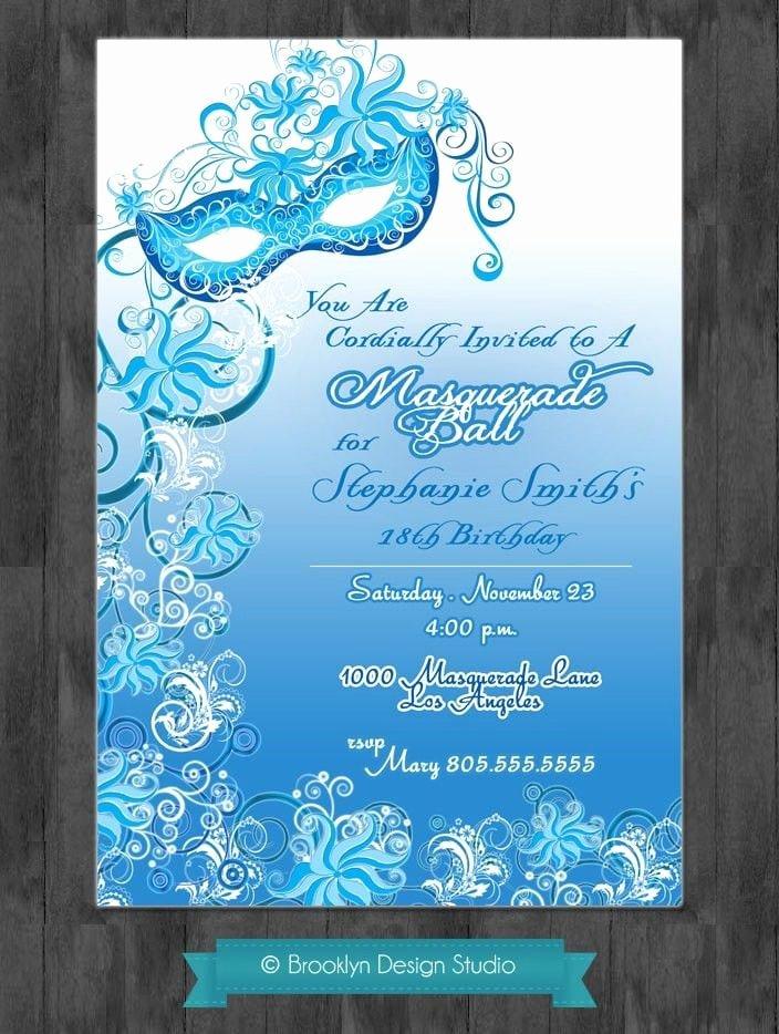 Masquerade Invitations Templates Free Beautiful Masquerade Ball Invitation