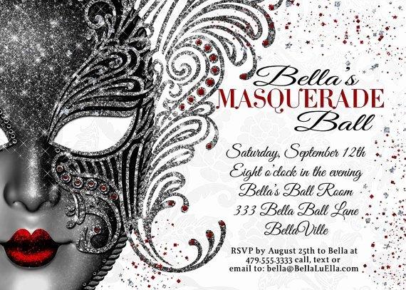 Masquerade Invitations Templates Free Lovely Masquerade Party Masquerade Invitation Mardi Gras Party