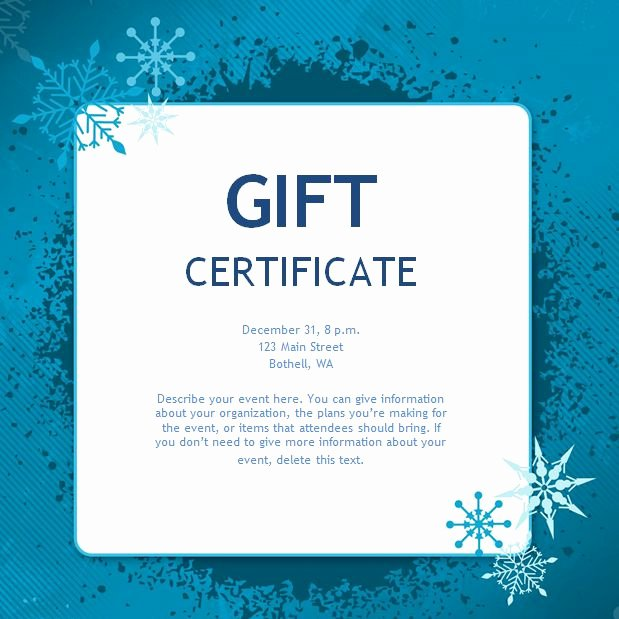 Massage Gift Certificate Template Free Download Awesome Free Gift Certificate Templates You Can Customize