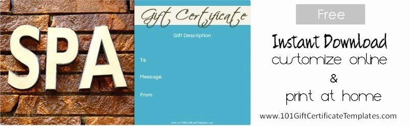 Massage Gift Certificate Template Free Download Awesome Spa Gift Certificates