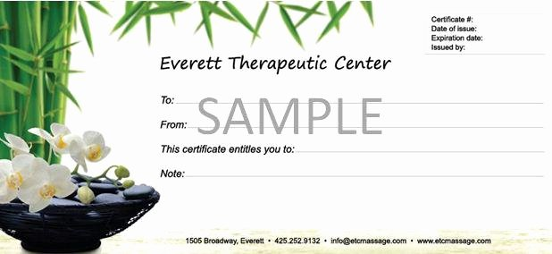 Massage Gift Certificate Template Free Download Lovely Free Massage Gift Certificate Template Editable