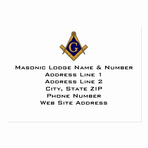 Master Mason Certificate Template Awesome Masonic Business Card Templates Page2