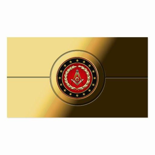 Master Mason Certificate Template Beautiful Masonic Business Card Templates Page2