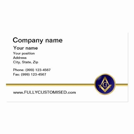 Master Mason Certificate Template Elegant Masonic Business Card Templates