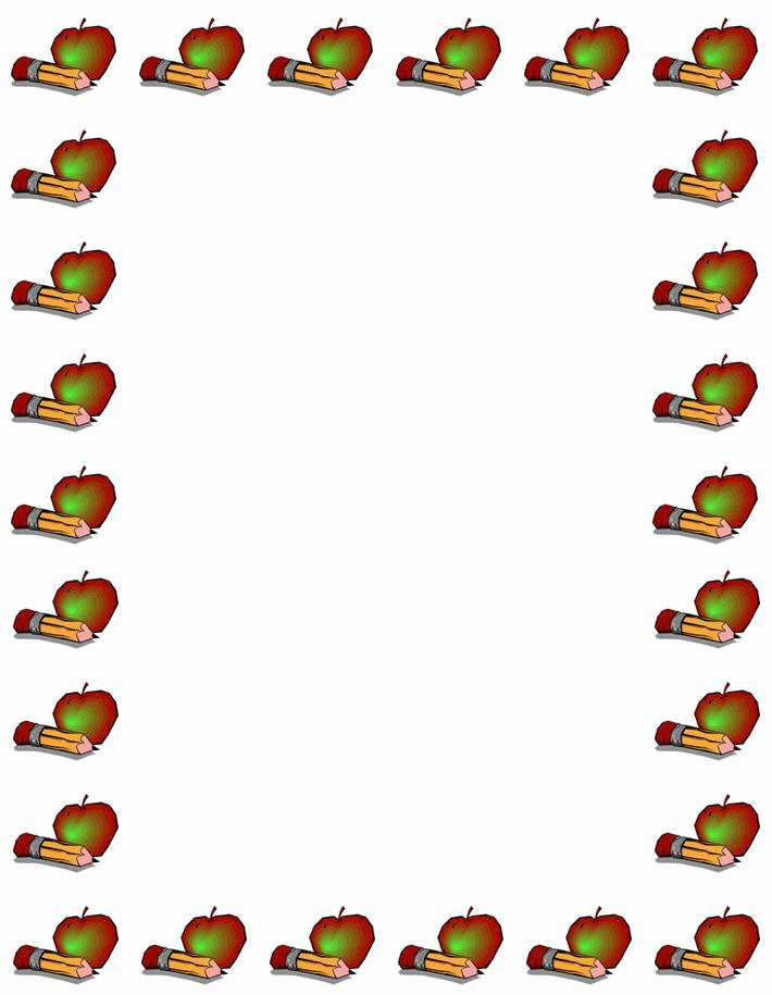 Math Borders for Word Awesome Apple Border for Word Clipart Best