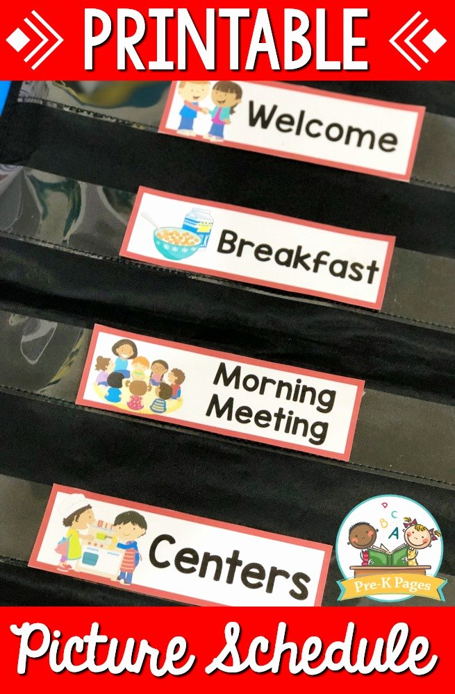 Math Borders for Word Inspirational Editable Picture Schedule Cards Pre K Pages