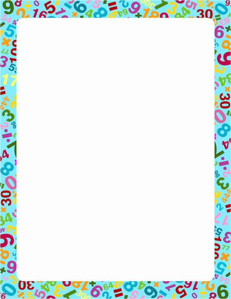 numbers border clipart