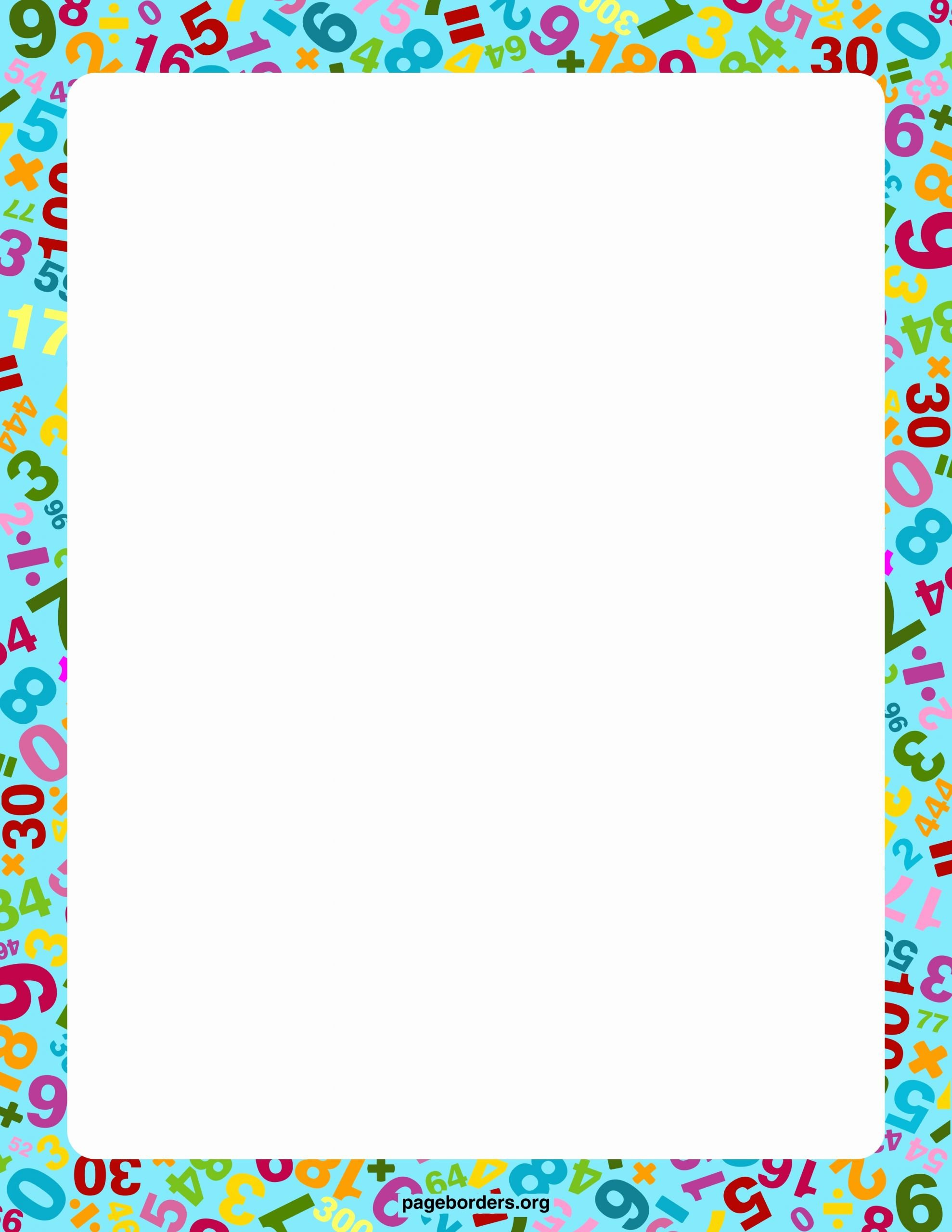 Math Borders for Word Lovely Math Borders for Microsoft Word Download Flowersheet