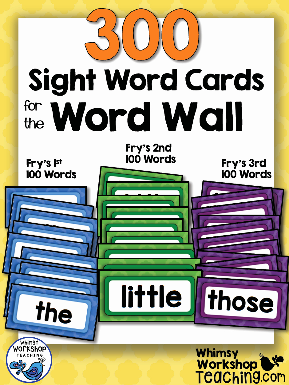 Math Borders for Word New Sight Words 300 Word Wall Words Whimsy Workshop Teaching