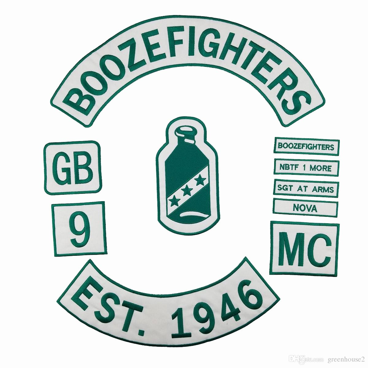 Mc Patch Template Awesome 2019 Boozefighters Est 1946 Motorcycle Club Patch Mc
