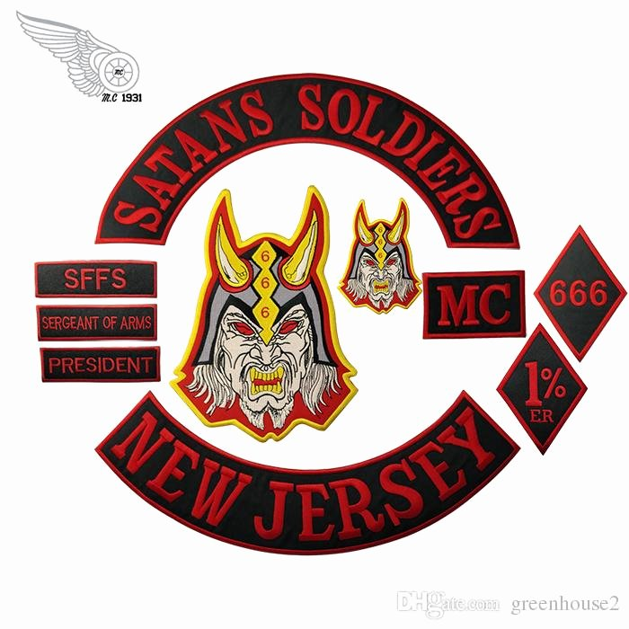 Mc Patch Template Best Of 2019 Satans soldiers New Jersey Mc Club Biker Vest