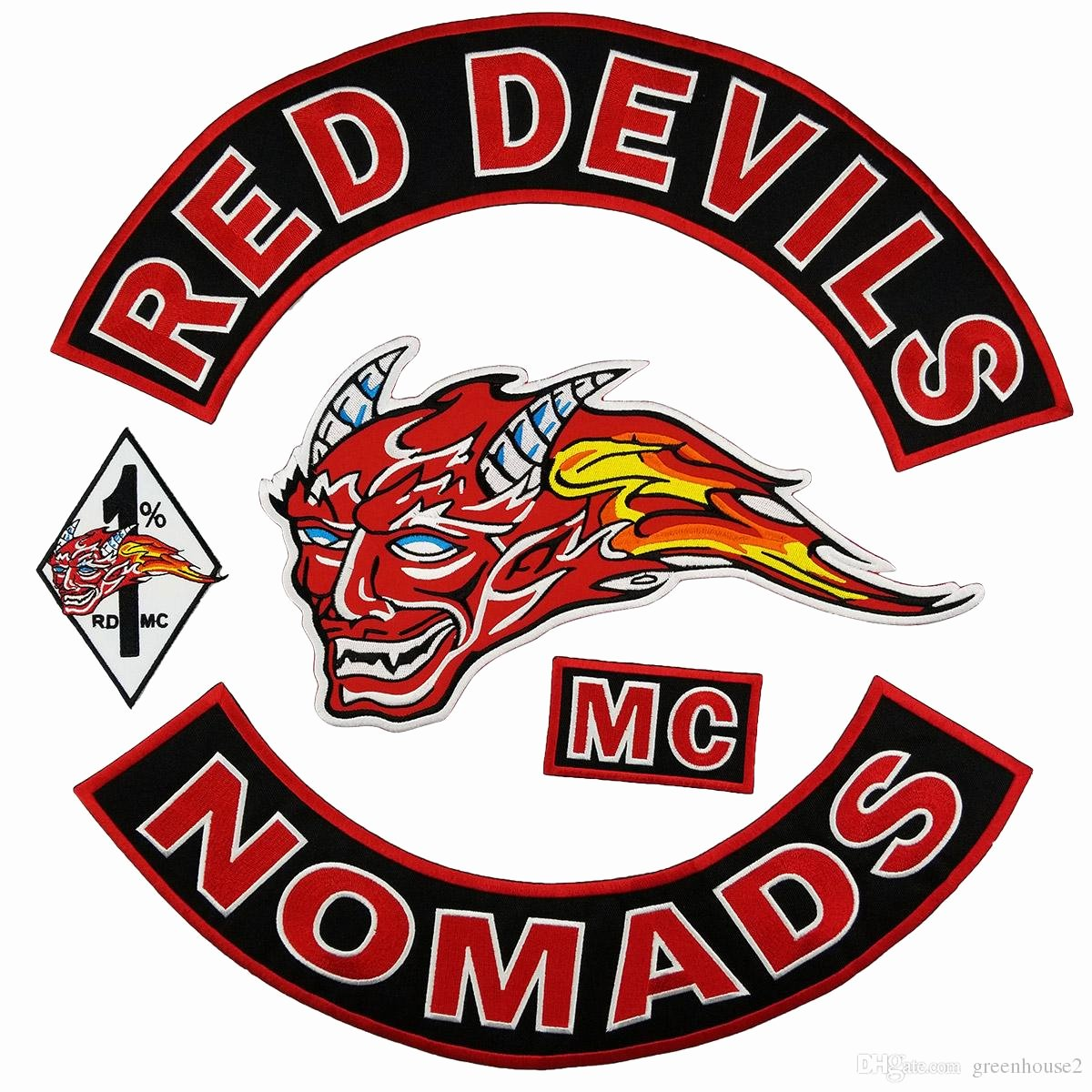 Mc Patch Template Fresh Hot Sale Red Devils Nomads Embroidery Patch Mc Embroidered