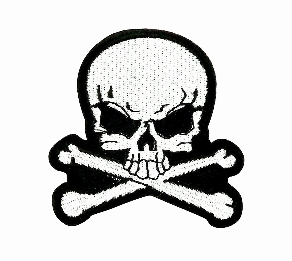 Mc Patch Template Inspirational Skull White Biker Patch Backpack Iron On Sew Pirate