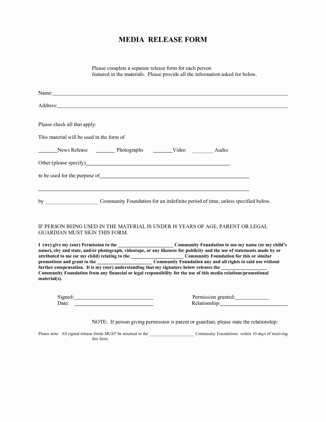 Media Release form Fresh Press Release form – Emmamcintyrephotography