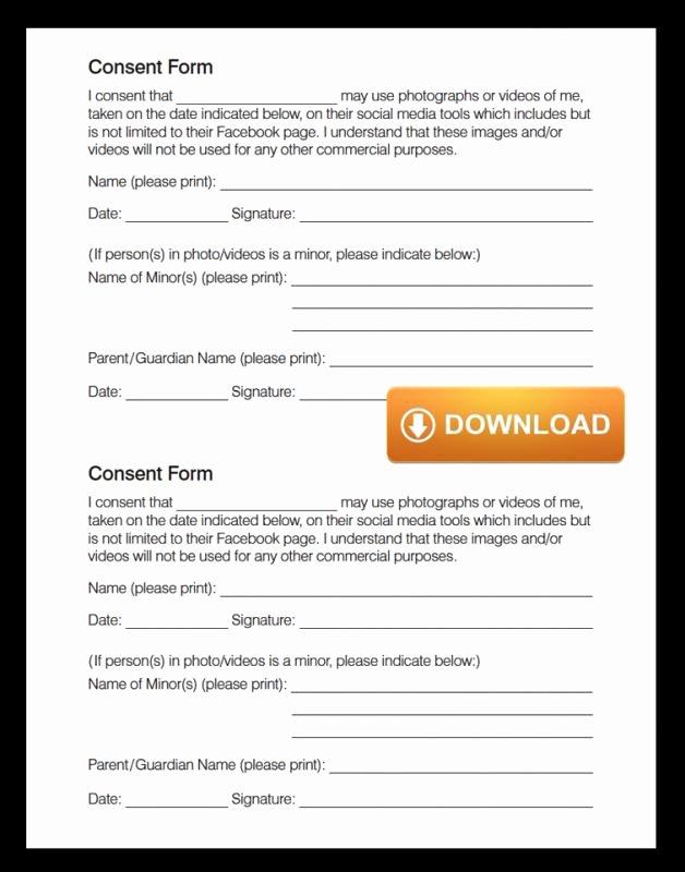 Media Release form Inspirational social Media Release form
