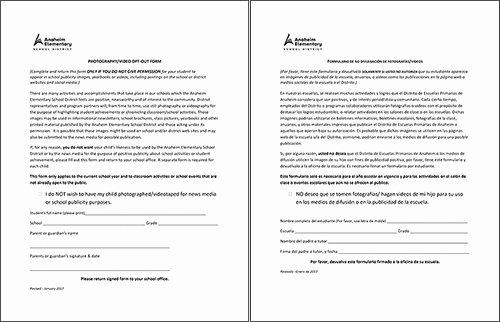 Media Release form Lovely Student Media Release form
