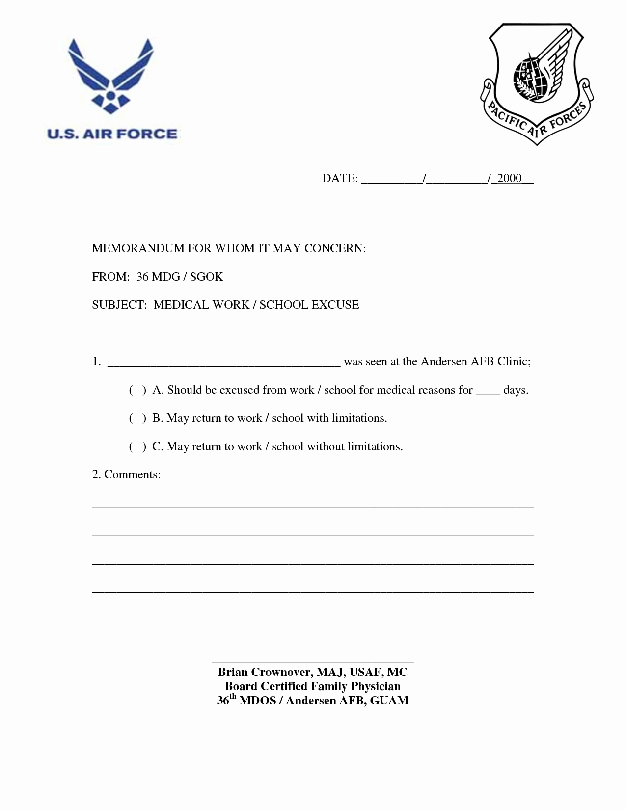 Medical Excuse form Best Of Fake Doctors Note Template for Work or School Pdf