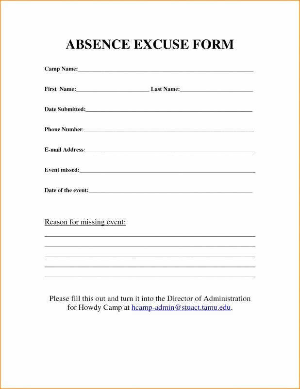 Medical Excuse form Luxury Free Printable Doctors Excuse for Work