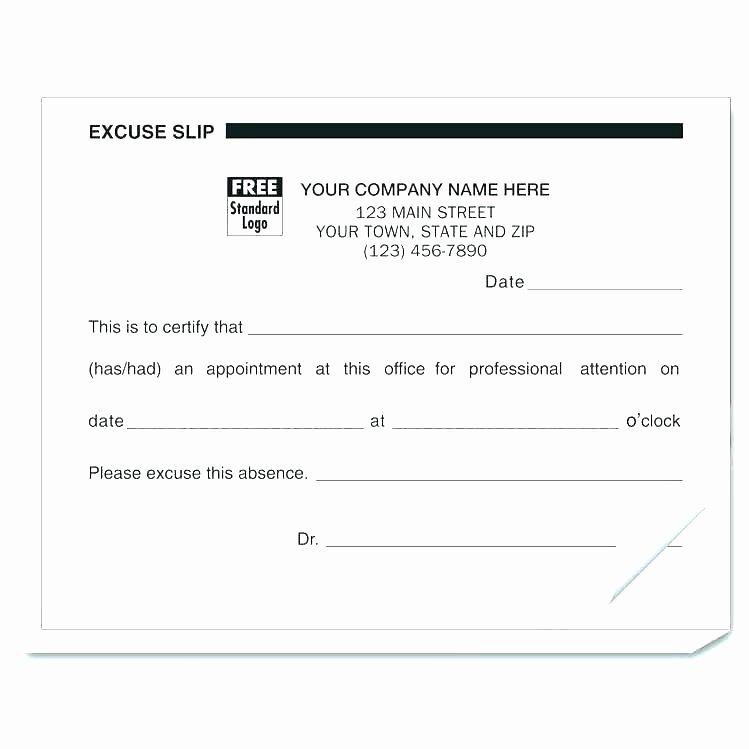Medical Excuse form Unique 13 Doctors Note form