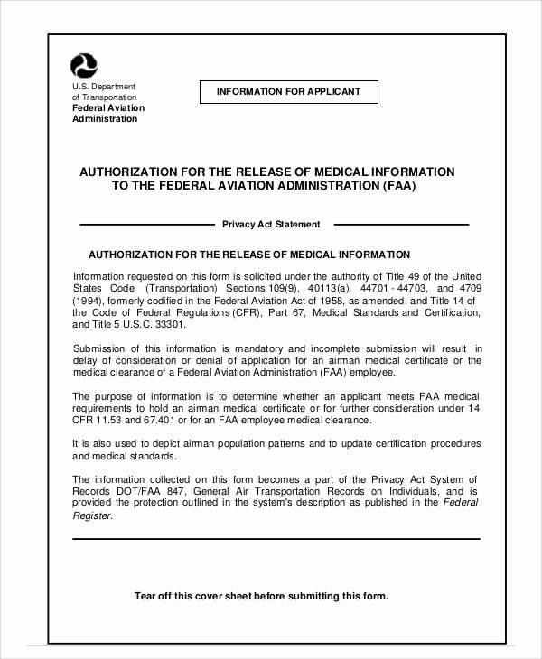 Medical Release Of Information form Inspirational Medical Release Of Information form Sample 7 Examples