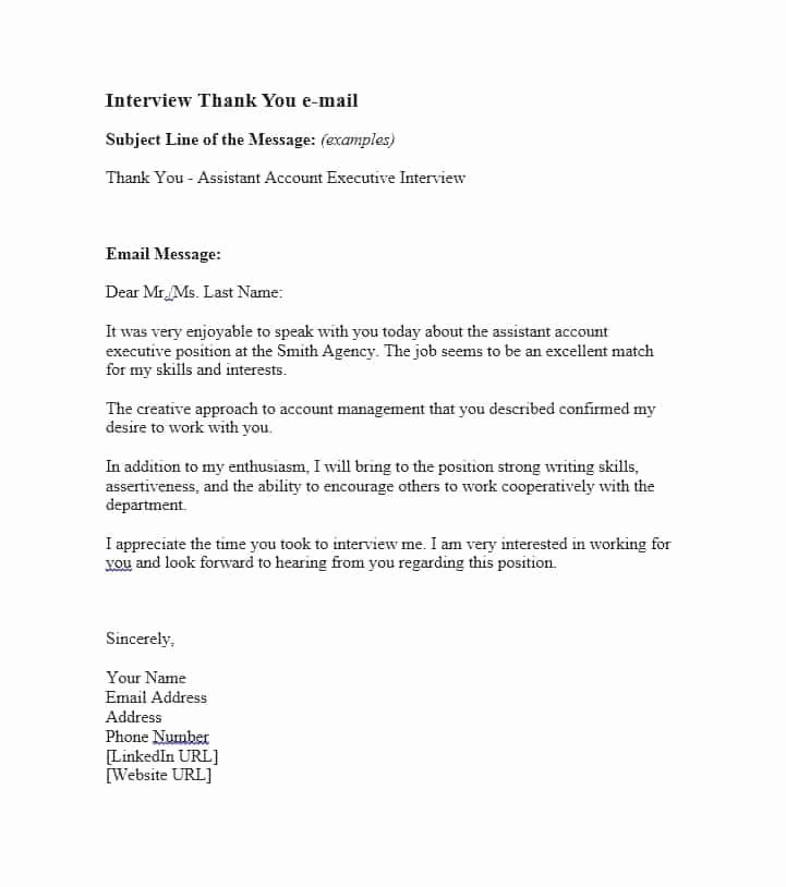 Medical School Interview Thank You Letter Awesome Thank You Email after Interview Sample 40 Thank You