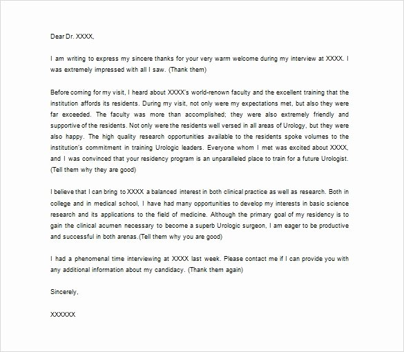 Medical School Interview Thank You Letter Beautiful 14 Inspirational Medical Refferal Letter Maotme Life