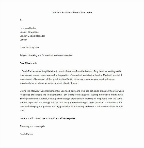 Medical School Interview Thank You Letter Best Of Medical School Interview Thank You Letter