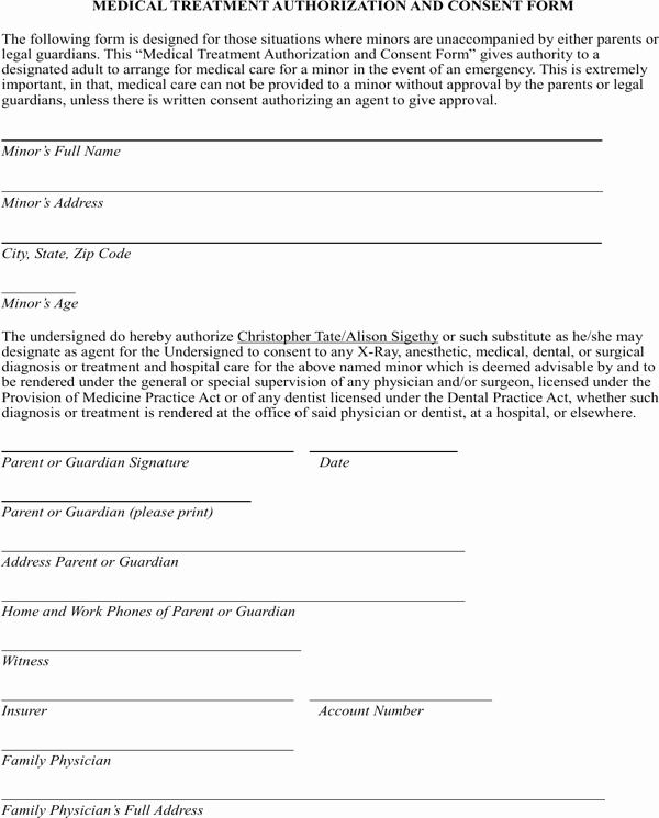 Medical Treatment Refusal form Template Beautiful Download Medical Treatment Authorization and Consent form
