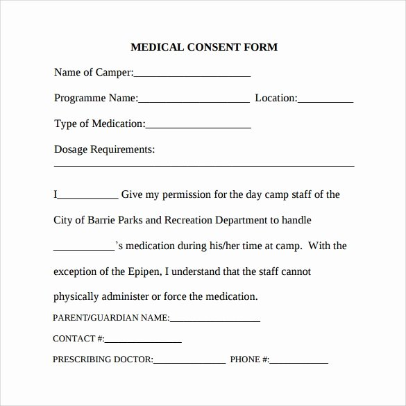 Medical Treatment Refusal form Template Elegant Medical Consent form 7 Download Free In Pdf