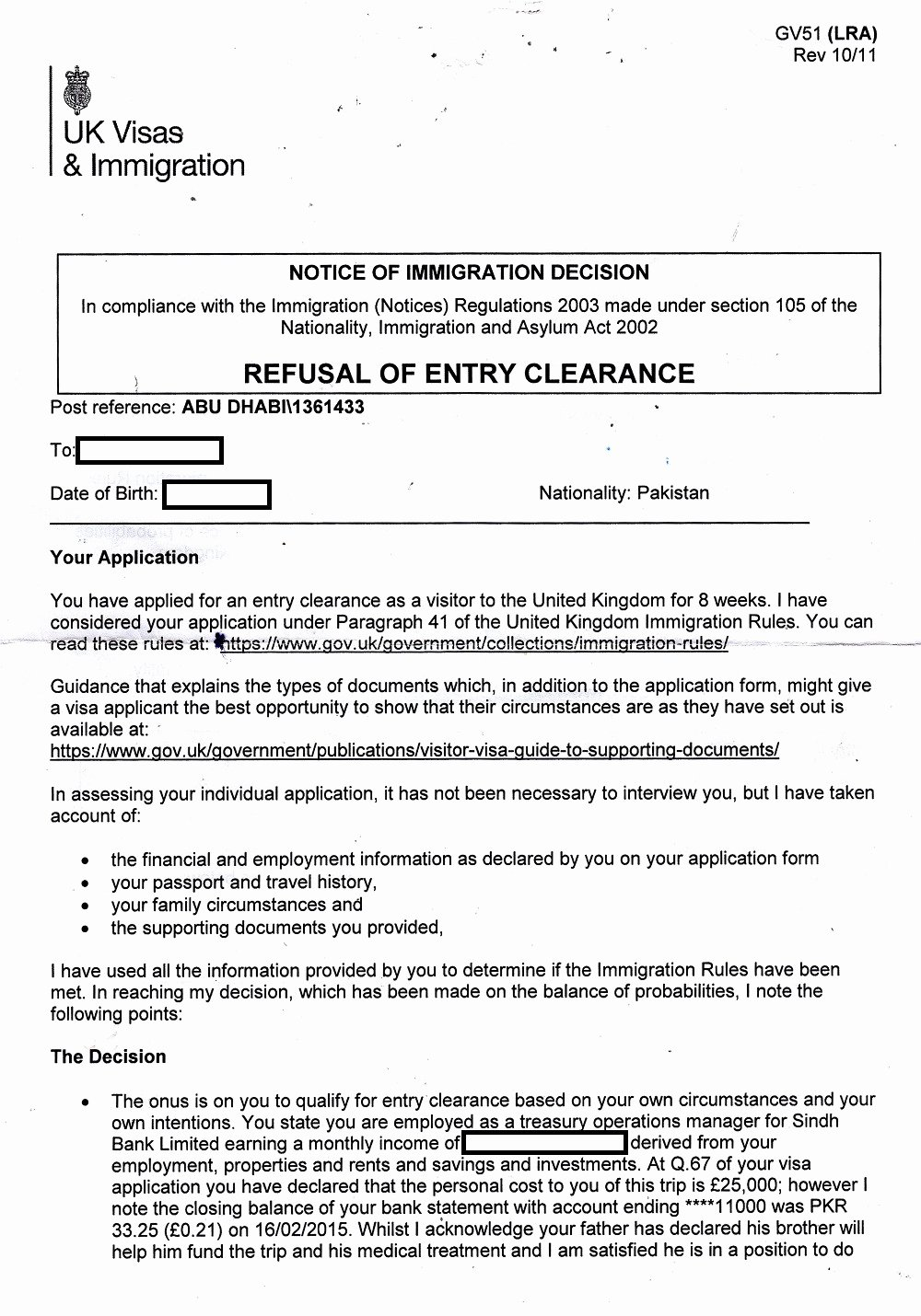 Medical Treatment Refusal form Template Fresh Application for Uk Special Visa attendant for Medical