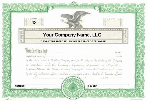 Membership Certificate Llc Template Best Of Custom Printed Certificates Limited Liability Pany