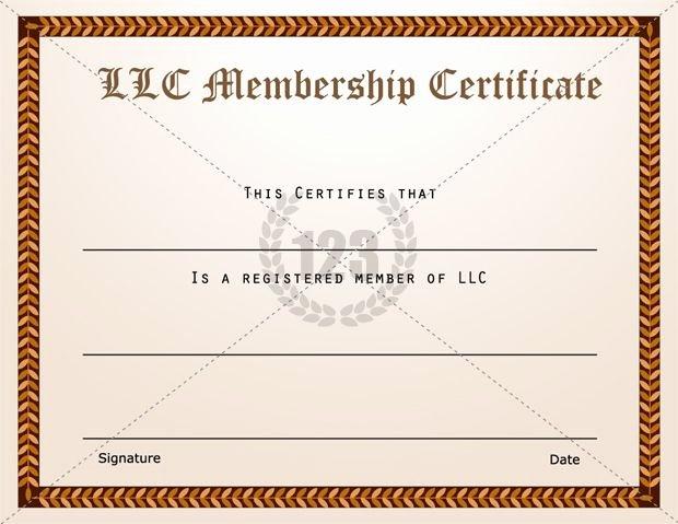 Membership Certificate Llc Template Lovely Membership Certificate Templates Best Quality Llc Free