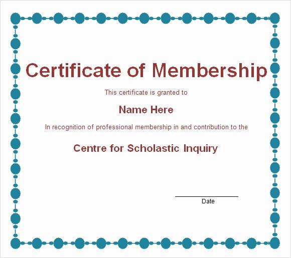 Membership Certificate Llc Template Luxury Free 14 Membership Certificate Templates In Samples