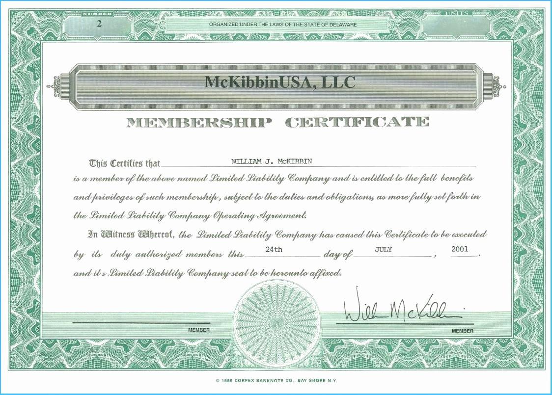 Membership Certificate Llc Template New Llc Membership Certificate Template 7061
