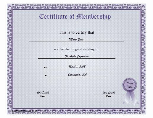 Membership Certificate Llc Template Unique 29 Of Membership Certificate Template