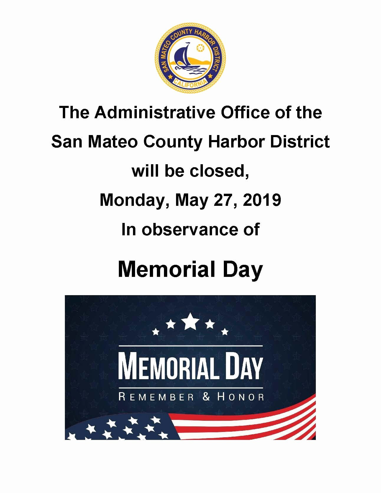 Memorial Day Closed Sign Template Beautiful Admin Fice Closed Memorial Day San Mateo County