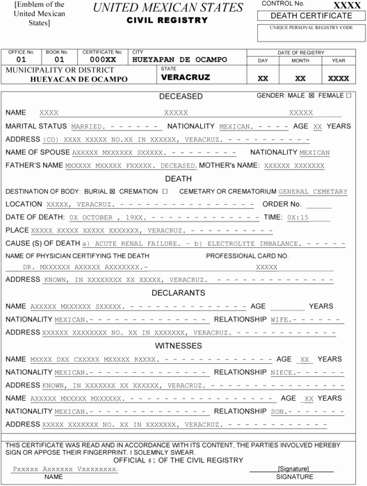 Mexican Birth Certificate Template Best Of Templating as A Strategy for Translating Fici – Meta