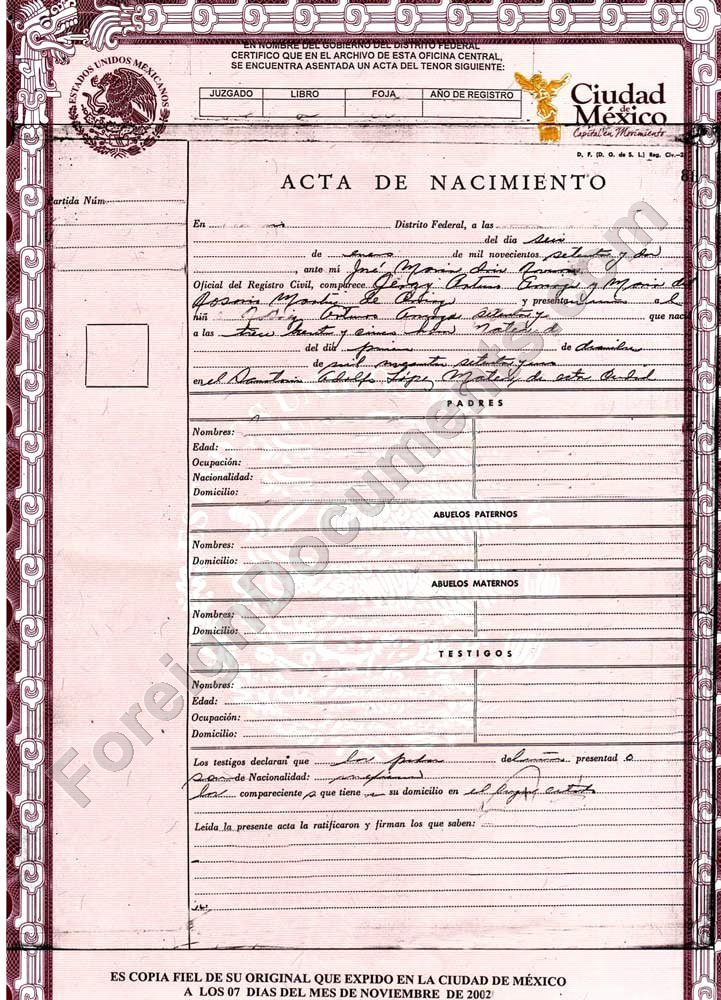 Mexican Birth Certificate Translation Template Fresh 25 Of Cuban Divorce Certificate Translation