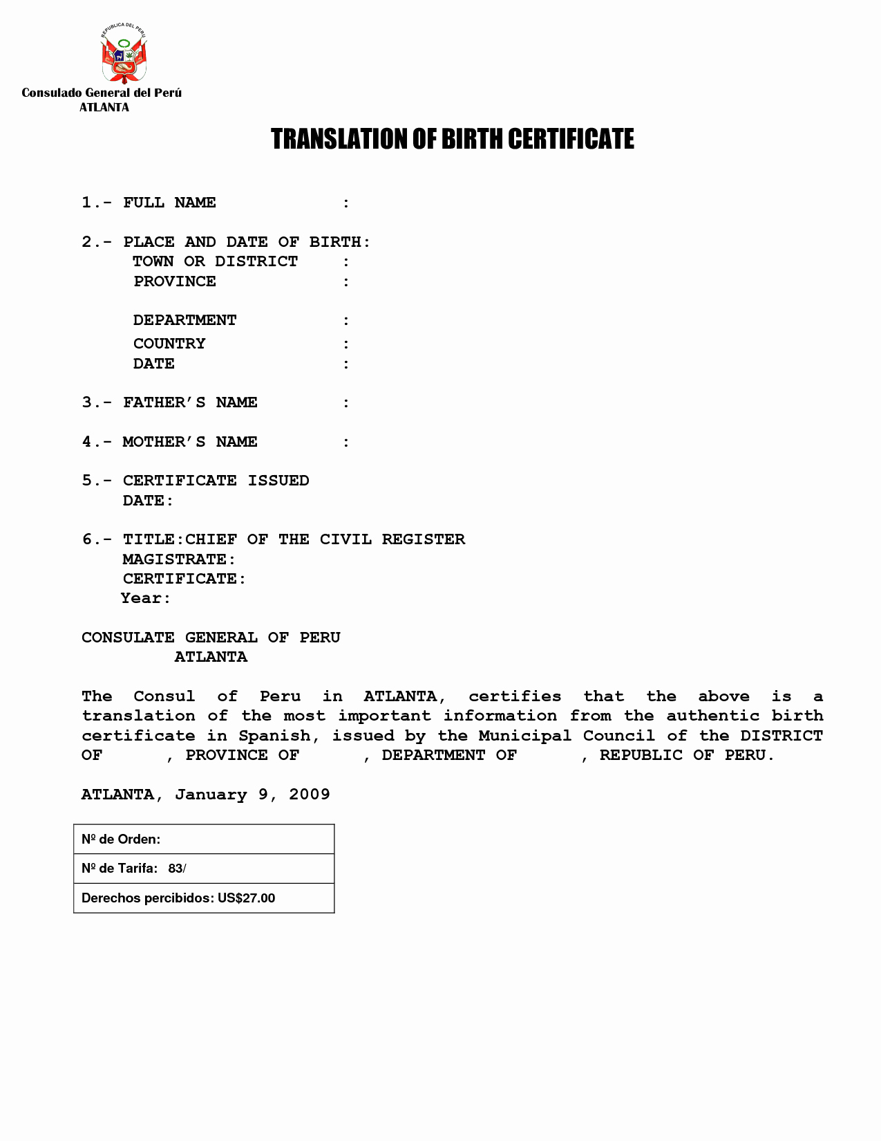 Mexican Birth Certificate Translation Template Pdf Awesome Best S Of Birth Certificate Translation Samples