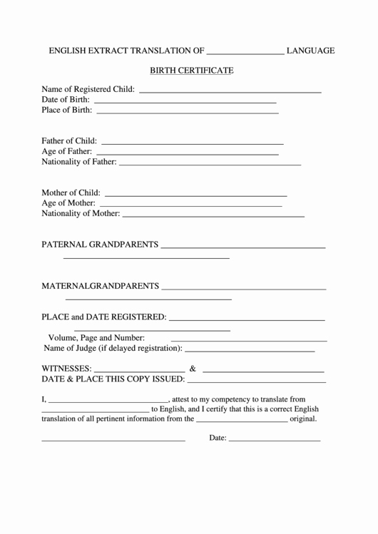 Mexican Birth Certificate Translation Template Pdf Inspirational Certificate Templates 10 Best Of Mexican Marriage
