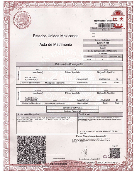 Mexican Marriage Certificate Template Awesome Marriage Certificate