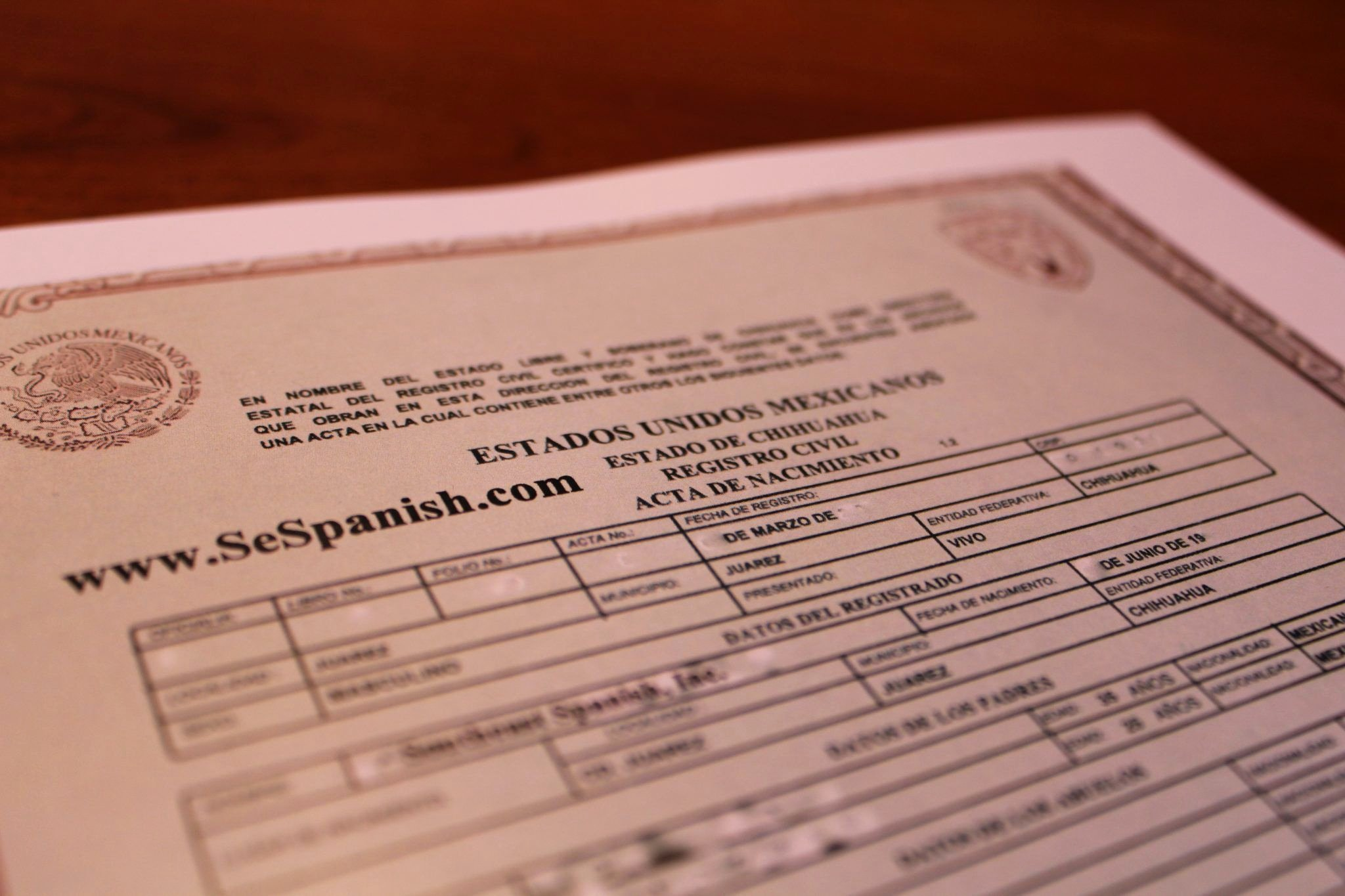 Mexico Birth Certificate Template Awesome Birth Certificate Translation