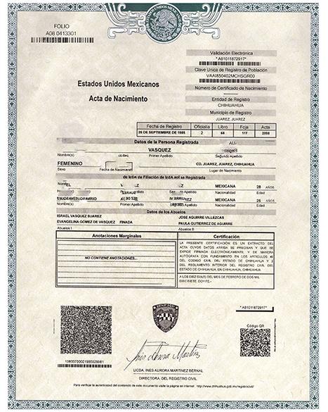Mexico Birth Certificate Template Fresh Birth Certificate